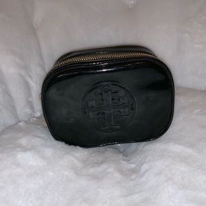 Leather Tory Burch cosmetic case